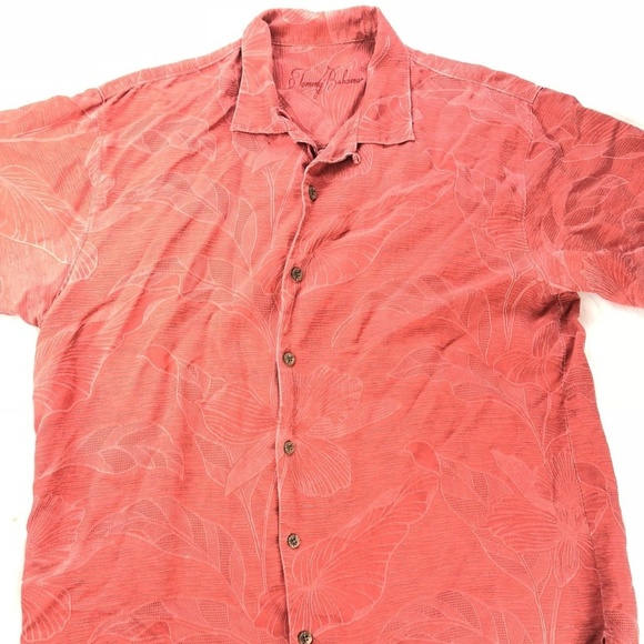 c83f7a530 Tommy Bahama Shirts | Coral Floral Size Large 100 Silk Men | Poshmark